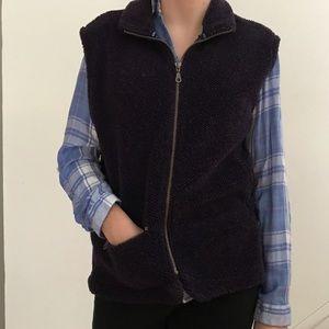 Antique Columbia dark purple vest